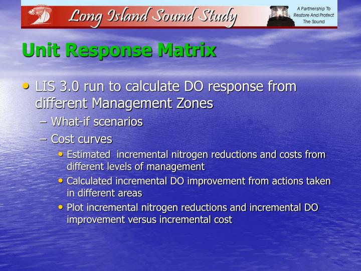 Unit Response Matrix