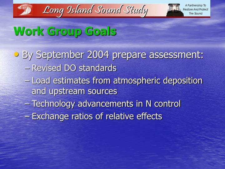 Work Group Goals