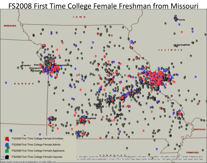FS2008 First Time College Female Freshman from Missouri