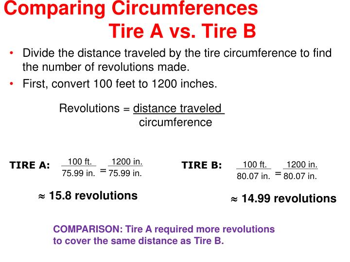 Comparing Circumferences