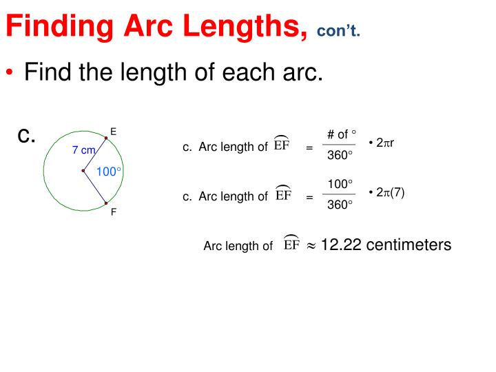 Finding Arc Lengths,