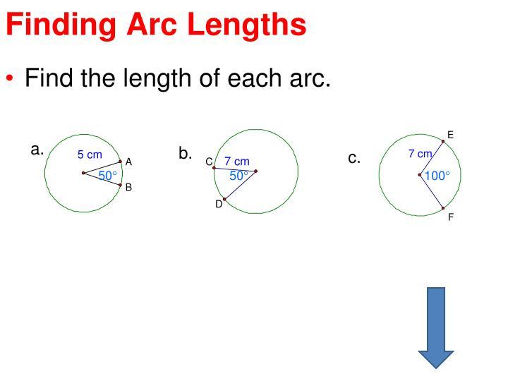 Finding Arc Lengths