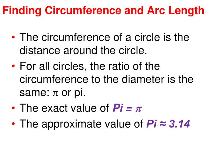 Finding Circumference and Arc Length