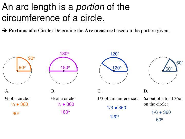An arc length is a