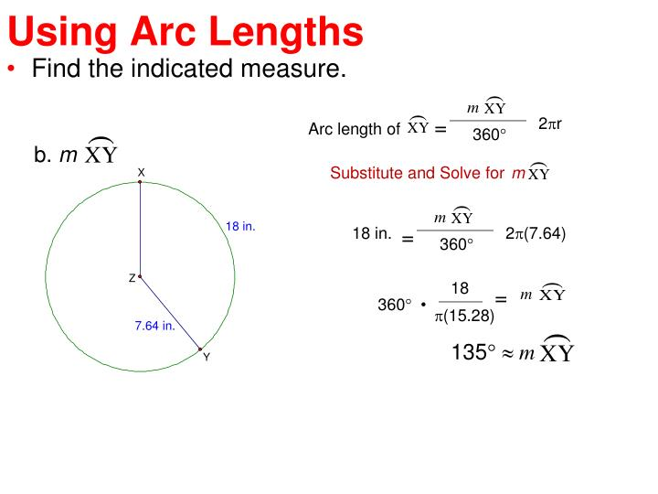 Using Arc Lengths