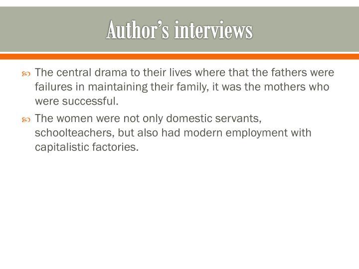 Author's interviews