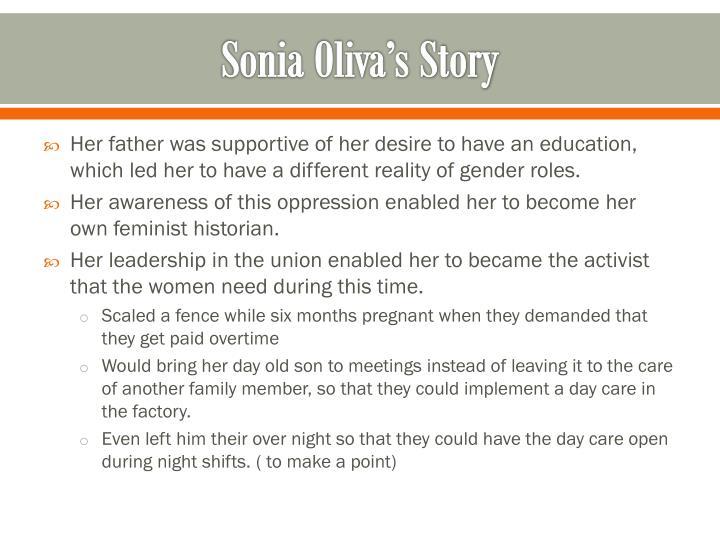 Sonia Oliva's Story