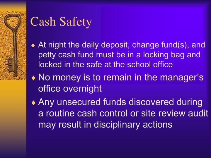 Cash Safety