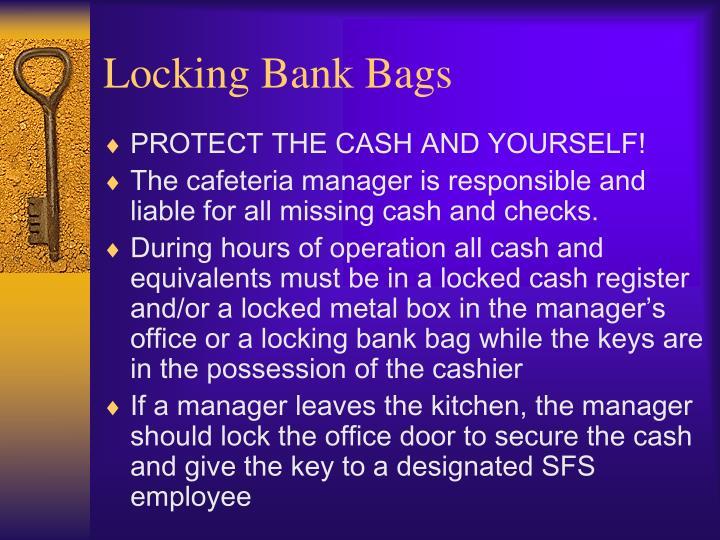 Locking Bank Bags