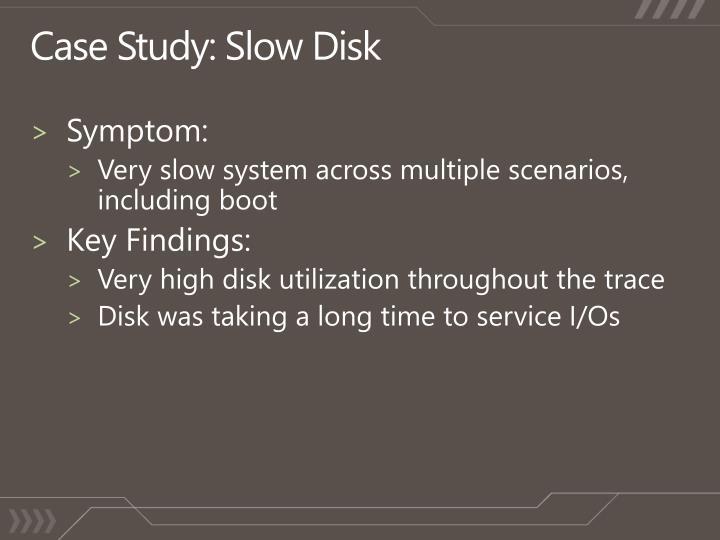 Case Study: Slow Disk