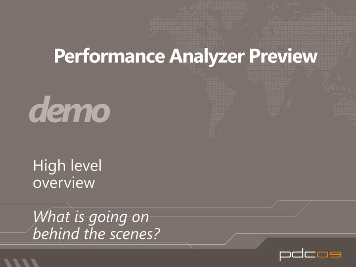 Performance Analyzer Preview