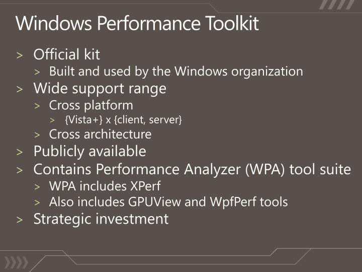 Windows Performance Toolkit