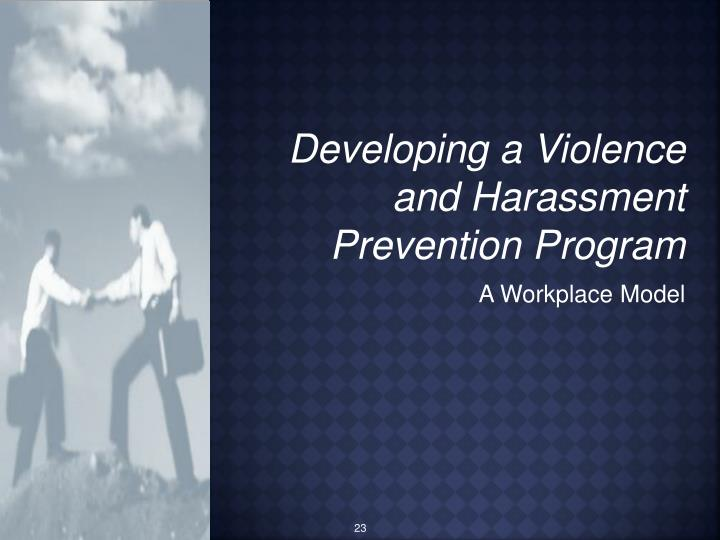 Developing a Violence and Harassment Prevention Program
