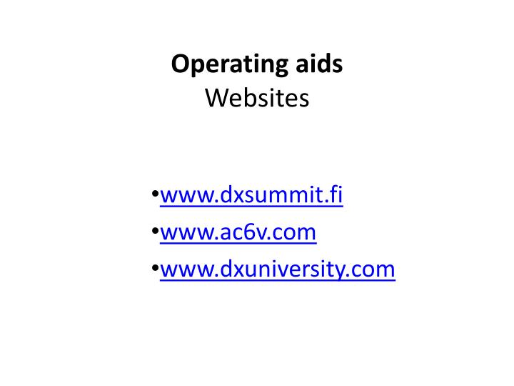Operating