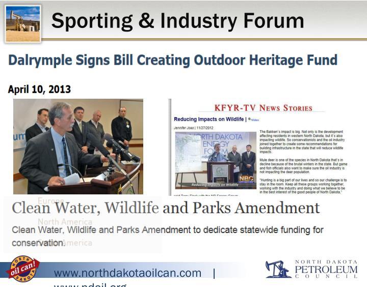 Sporting & Industry Forum