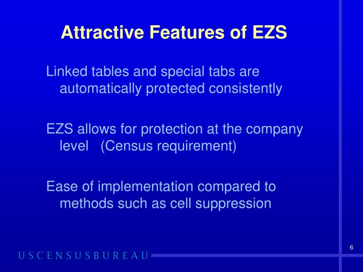 Attractive Features of EZS