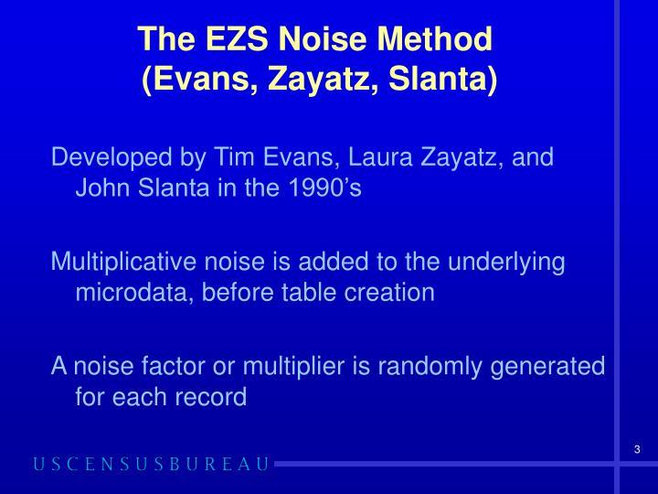 The EZS Noise Method