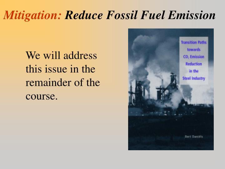 Mitigation: