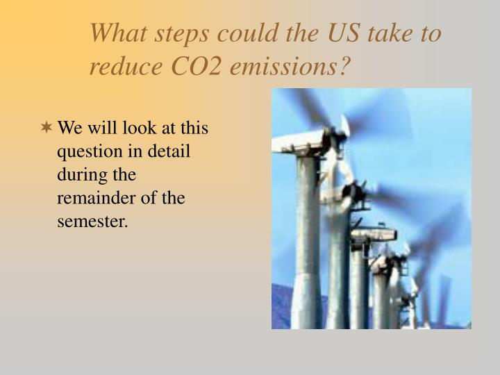 What steps could the US take to reduce CO2 emissions?