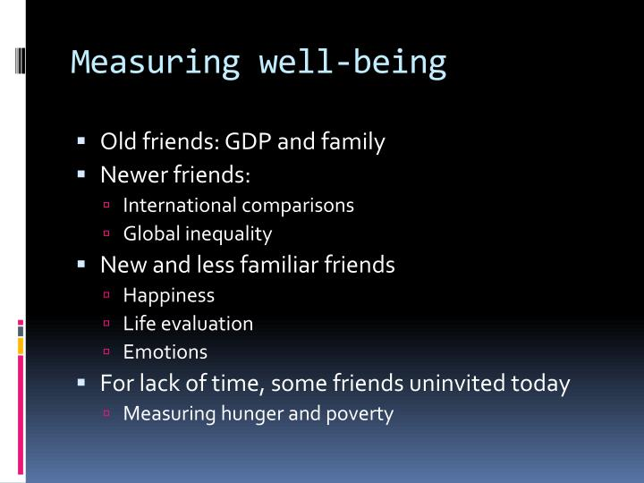 Measuring well-being