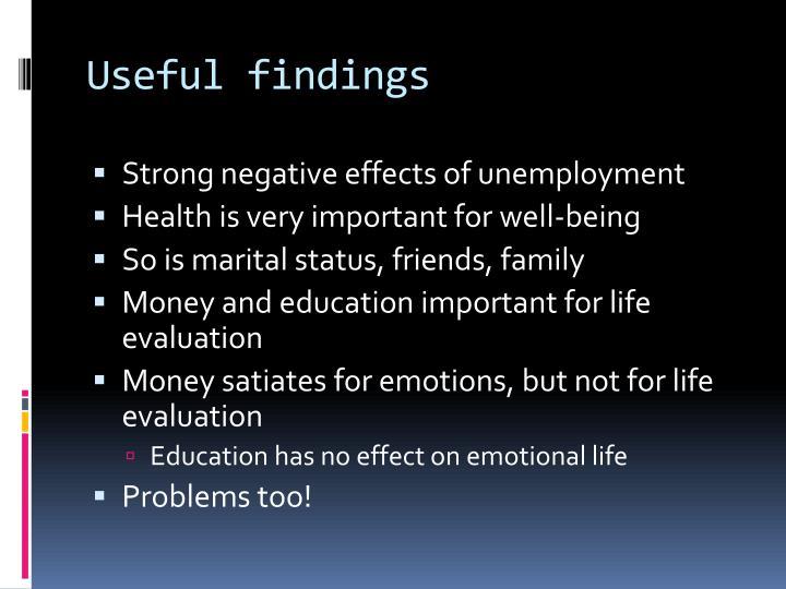 Useful findings