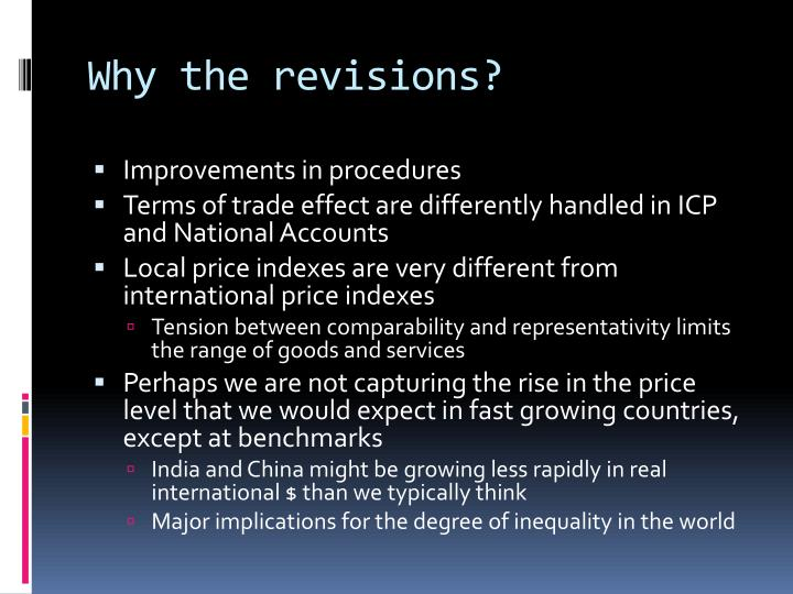 Why the revisions?