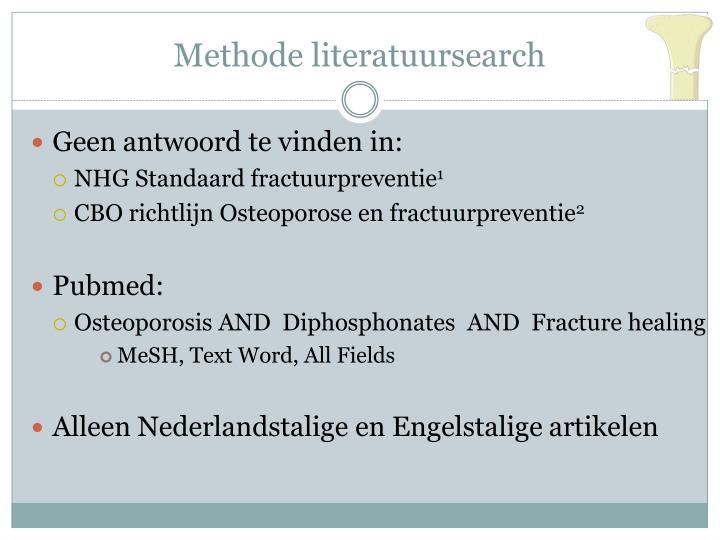 Methode literatuursearch