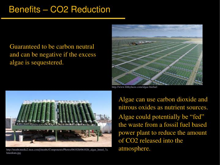 Benefits – CO2 Reduction