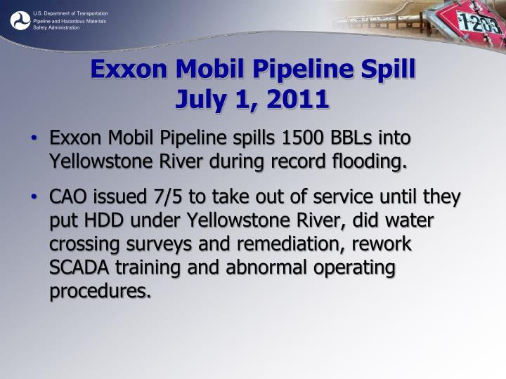 Exxon Mobil Pipeline Spill