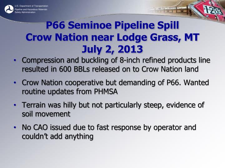 P66 Seminoe Pipeline Spill