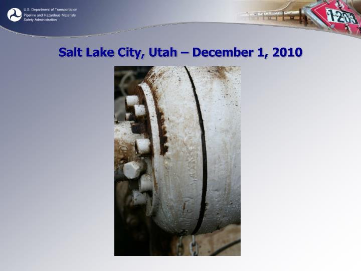 Salt Lake City, Utah – December 1, 2010