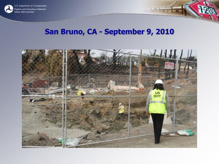 San Bruno, CA - September 9, 2010