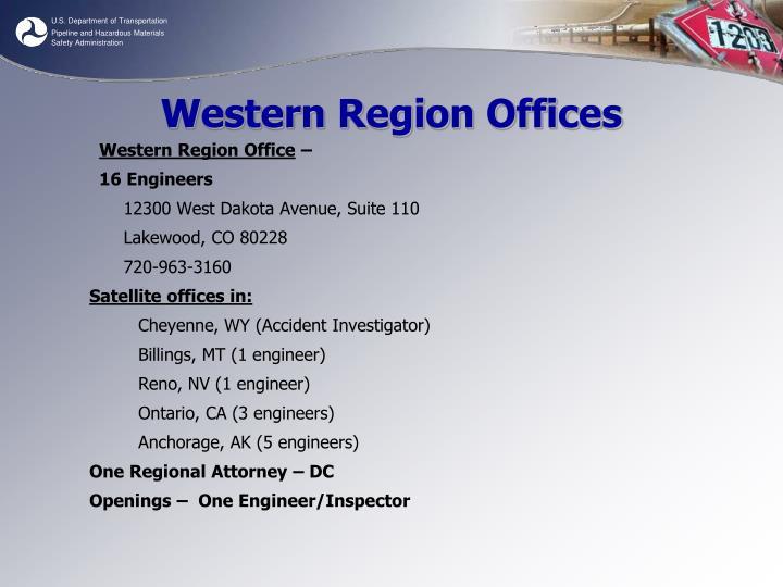 Western Region Offices