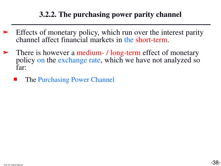 3.2.2. The purchasing power parity channel