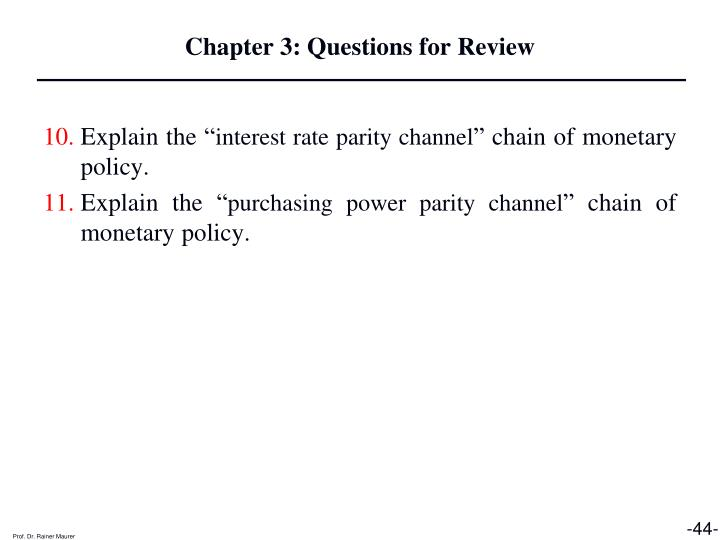 Chapter 3: Questions for Review