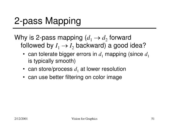 2-pass Mapping