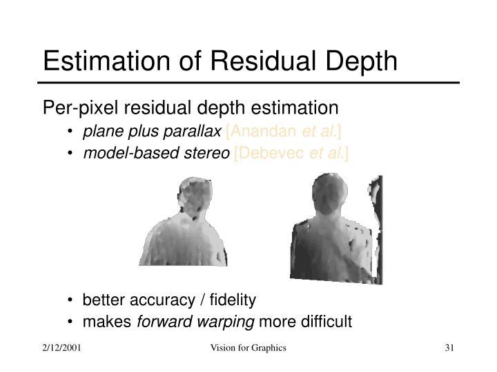 Estimation of Residual Depth