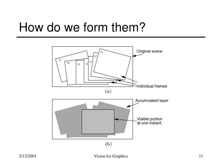 How do we form them?