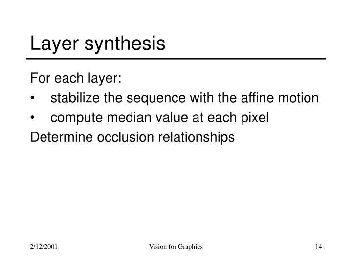 Layer synthesis