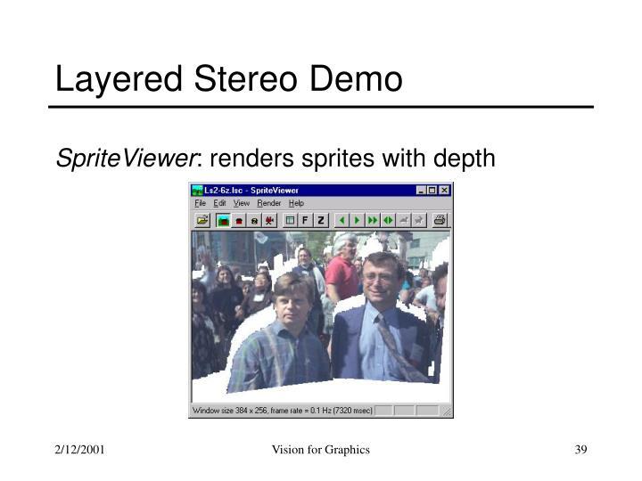Layered Stereo Demo