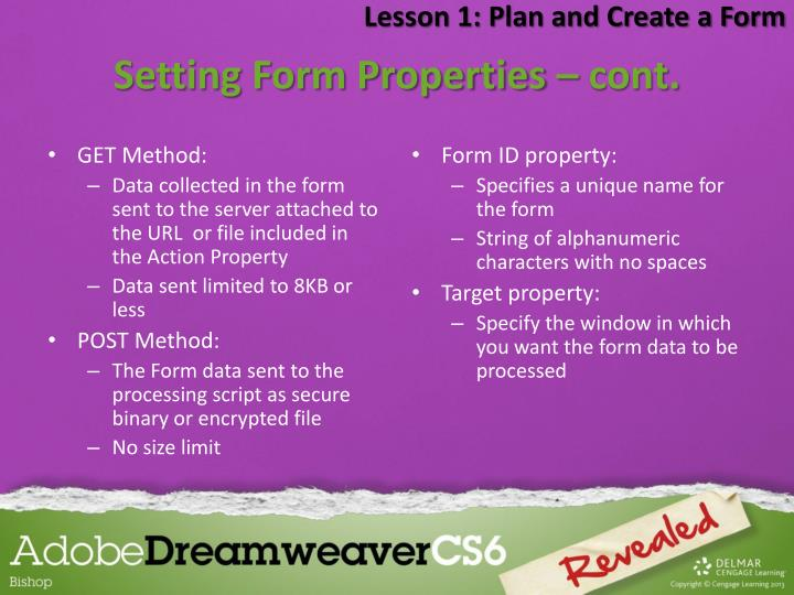 Lesson 1: Plan and Create a Form