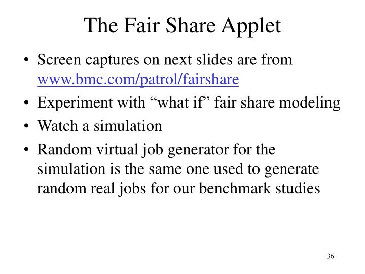 The Fair Share Applet