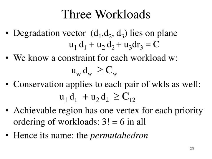 Three Workloads