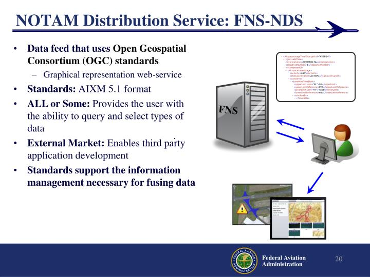 NOTAM Distribution Service: FNS-NDS