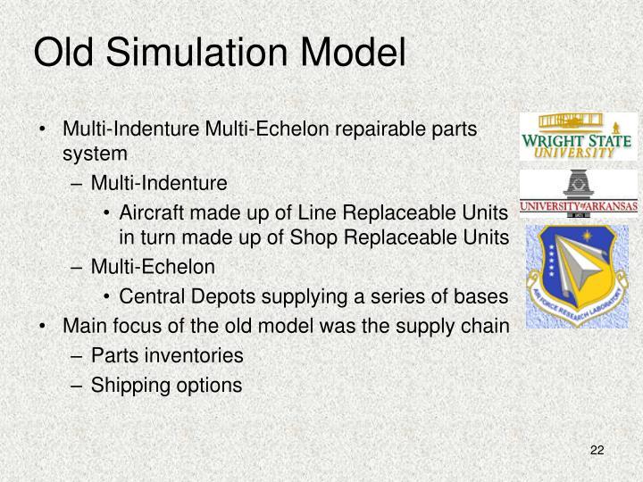 Old Simulation Model