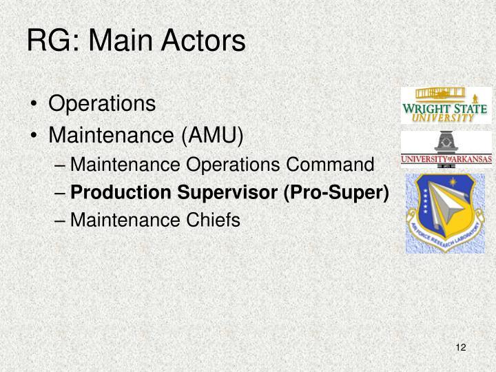 RG: Main Actors