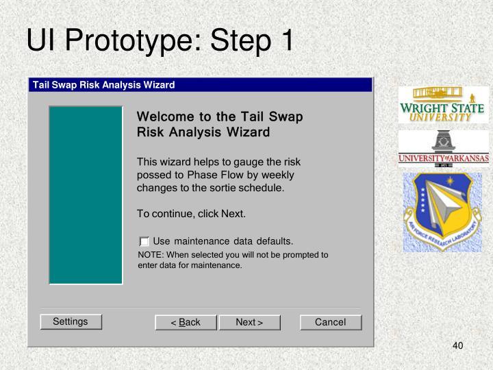 UI Prototype: Step 1
