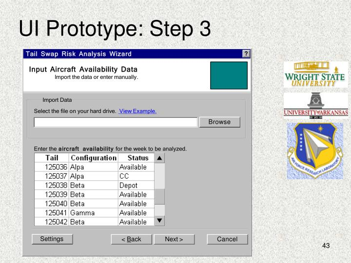 UI Prototype: Step 3