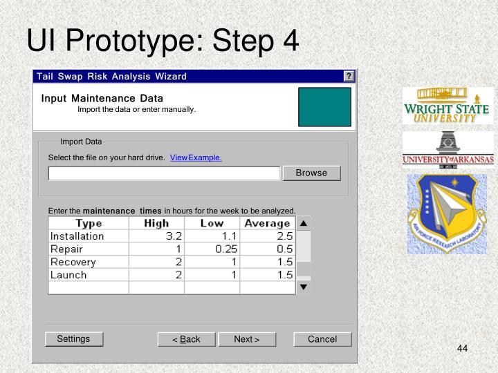 UI Prototype: Step 4
