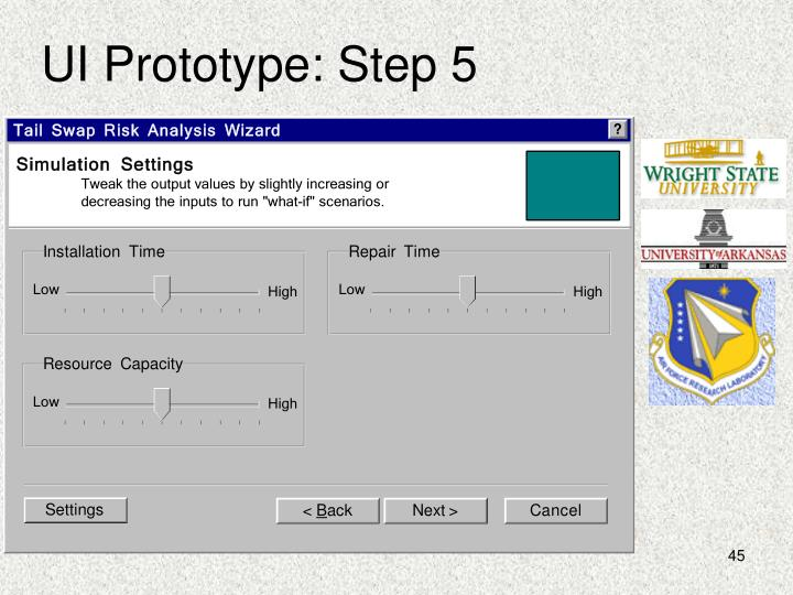 UI Prototype: Step 5